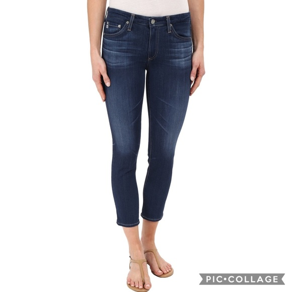 4dbdbdd6d35a Ag Adriano Goldschmied Denim - AG The Prima Crop Jeans in 4 Years Grassland